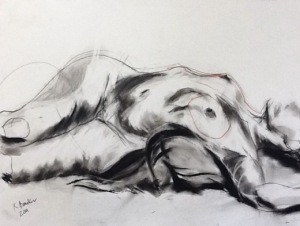 Woman Lounging, by Artist Kelsey Bunker